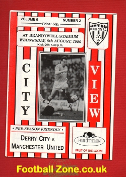 Derry City v Man Utd 1990 - Pre Season Friendly Match
