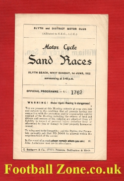 Blyth Motor Cycle Sand Races 1952