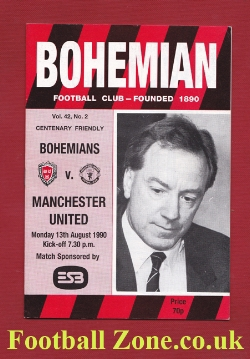 Bohemians v Man Utd 1990 - Pre Season Match in Ireland