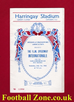 Harringay Speedway FIM International 1961