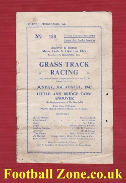Andover Grass Track Racing 1947 - 1940s