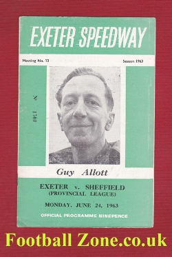 Exeter Speedway v Sheffield 1963 - Guy Allott