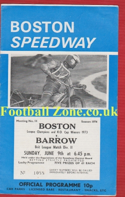 Boston Speedway v Barrow 1974