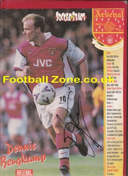 Arsenal Dennis Bergkamp Autographed Picture