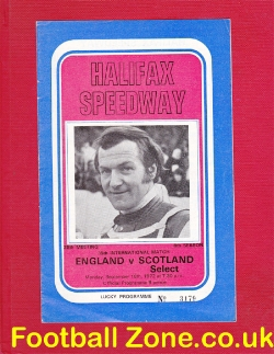 England Speedway v Scotland 1972 - at Halifax