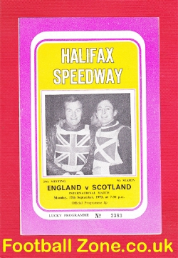 England Speedway v Scotland 1973 - at Halifax