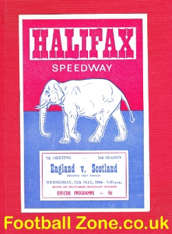 England Speedway v Scotland 1966 - at Halifax