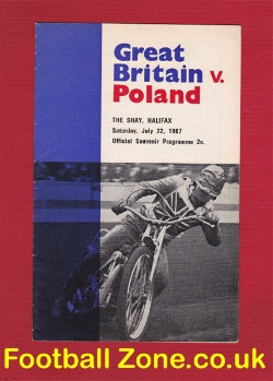Great Britain Speedway v Poland 1967 - at Halifax