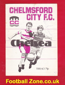 Chelmsford City v Chelsea 1978 - Autographed