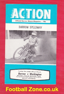 Barrow Speedway v Workington 1972