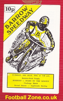 Barrow Speedway v Stars Of The League 1973