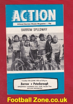 Barrow Speedway v Peterborough 1972