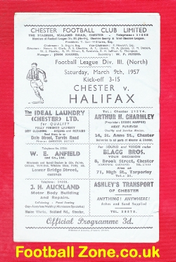 Chester City v Halifax Town 1957
