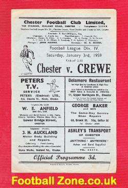 Chester City v Crewe Alexandra 1959