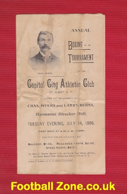 A Capitol City Athletic Club New York USA 1896 Boxing Programme