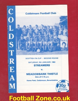 Coldstream v Meadowbank Thistle 1982