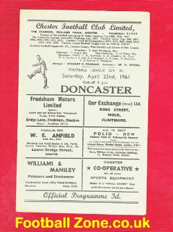 Chester City v Doncaster Rovers 1961