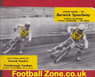 Berwick Speedway v Peterborough 1974