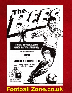 Barnet v Man Utd 1990 - Pre Season Friendly