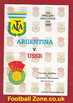 Argentina v Russia 1991 - Challenge Cup at Old Trafford