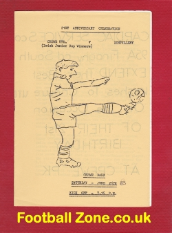 Crewe United v Distillery 1983 - Ireland