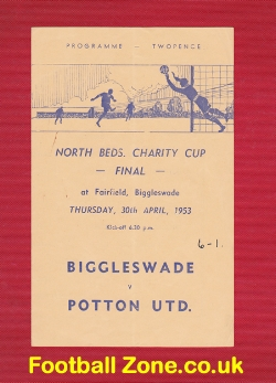 Biggleswade Town v Potton United 1953 - Charity Cup Final