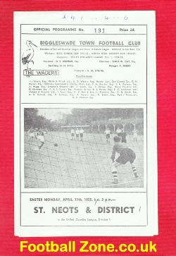 Biggleswade Town v St Neots & District 1955
