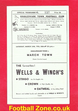 Biggleswade Town v March Town 1956