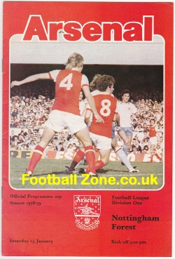 Arsenal v Nottingham Forest 1979