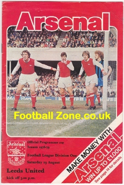 Arsenal v Leeds United 1978
