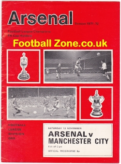 Arsenal v Man City 1971