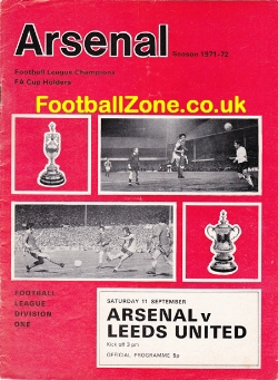 Arsenal v Leeds United 1971