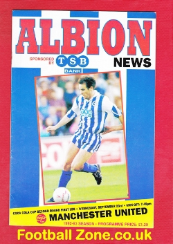 Brighton Hove Albion v Man Utd 1992 - First David Beckham