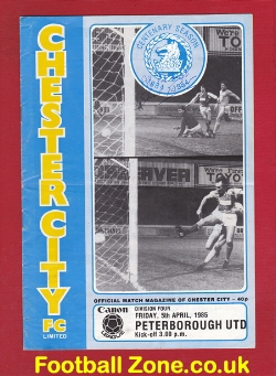 Chester City v Peterborough United 1985 - Multi Autographed