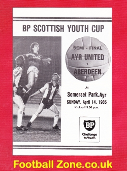 Ayr United v Aberdeen 1985 - Youth Cup Semi Final