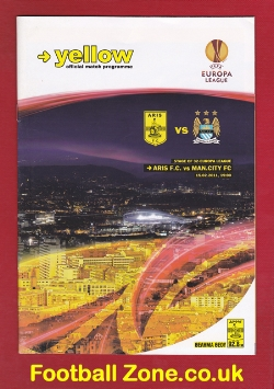 Aris Salonika v Manchester City 2011 - THE RARE BANNED Programme