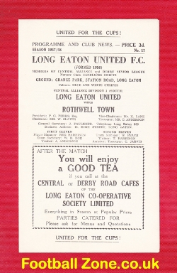 Long Eaton United v Rothwell Town 1958