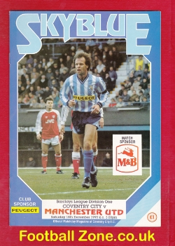 Coventry City v Man Utd 1990