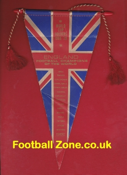 England World Cup Finals 66 Football Pennant Flag 1966