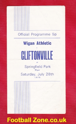 Wigan Athletic v Cliftonville 1979 - Springfield Park