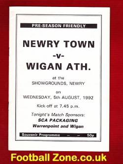 Newry Town v Wigan Athletic 1992 - Ireland