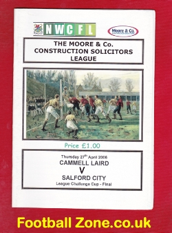 Cammell Laird v Salford City 2006 - Cup Final