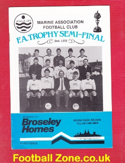 Marine Athletic v Northwich Victoria 1984 - Semi Final
