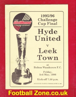Hyde United v Leek Town 1996 - Cup Final