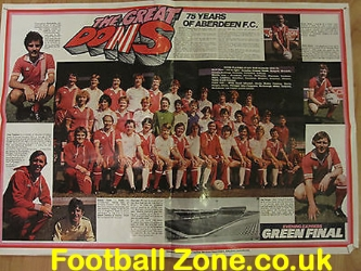 Aberdeen Special Large Signed Team Poster 1978 + Alex Ferguson