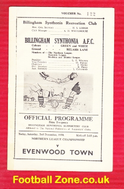 Billingham Synthonia v Evenwood Town 1950