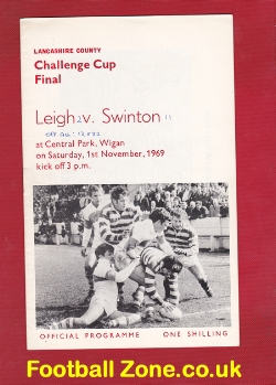 Leigh Rugby v Swinton 1969 - Lancashire Cup Final