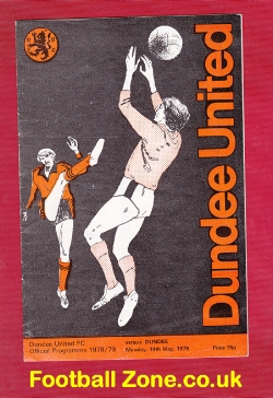 Dundee United v Dundee 1979 - Multi Autographed Signed