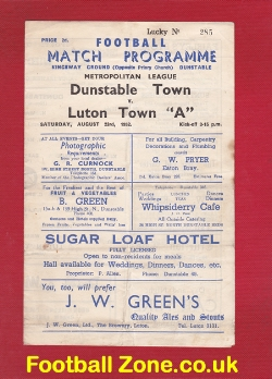 Dunstable Town v Luton Town 1952 - Met League