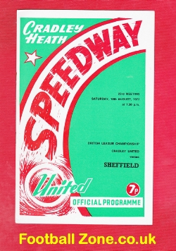 Cradley Heath Speedway v Sheffield 1973